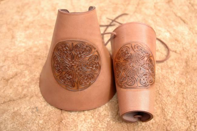 Celtic Leather Bracers - 3