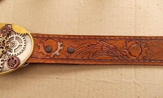 Steampunk Belt with Dragons